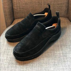L.L. Bean Comfort Mocs Suede Shoes Size 8.5 Black